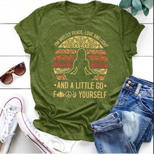 S-5XL New Women Fashion Graphic Tee Shirt Lady Girl Casual Short Sleeve T-shirt Boho Yoga Top Plus Size