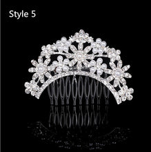 Load image into Gallery viewer, New Women's Crystal Hair Clips Bridal Wedding Rhinestone Diamante Pearl Hair Clip Comb