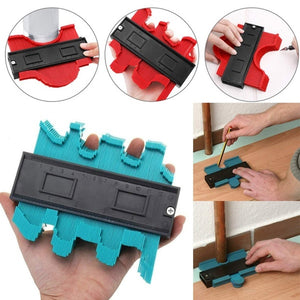 Multi-function Plastic Contour Gauge Duplicator Irregular Shapes Wood Measure Ruler Measure Tools