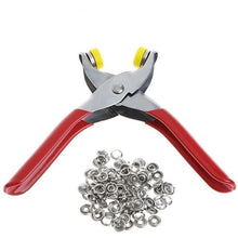 Load image into Gallery viewer, Fastener Snap Pliers Buttons Press Fixing Tool + 100Pcs Ring Snap Clothes Crafting Tool