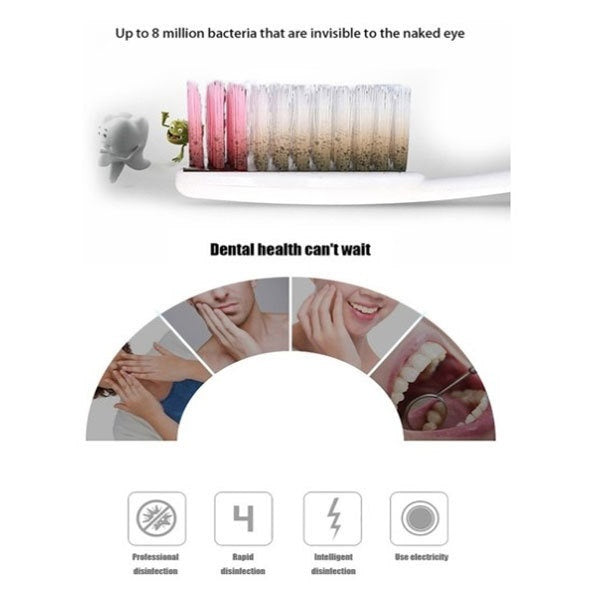 Brand New 3 in 1 UV Light Ultraviolet Toothbrush Sterilizer Toothbrush Holder Automatic Toothpaste Squeezers Dispenser Home Bathroom Set