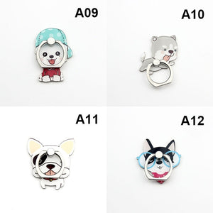 Universal 360 Degree Rotating Phone Stand 3D Cartoon Finger Ring Mobile Phone Smartphone Stand Holder For All Phone