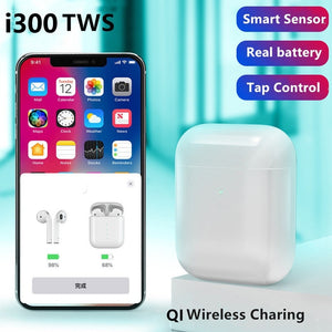 i300 TWS 1:1 Bluetooth 5.0 Earphone Wireless Charging Smart Sensor Bass Earbuds Headset