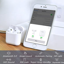 Load image into Gallery viewer, i300 TWS 1:1 Bluetooth 5.0 Earphone Wireless Charging Smart Sensor Bass Earbuds Headset