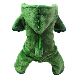 Dog clothes dinosaur change pet clothes thickened warm four-legged dog clothes