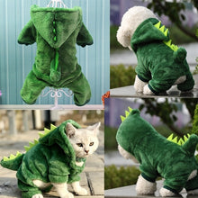 Load image into Gallery viewer, Dog clothes dinosaur change pet clothes thickened warm four-legged dog clothes