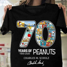 Load image into Gallery viewer, Details About 70 Years Of Peanuts 1950-2020 Charles M Schulz Black Cotton Men Clothing Shorts