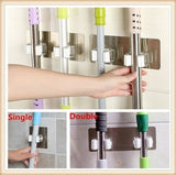 Powerful Magic Hook / Bathroom Living Room Broom Mop Hook / Bathroom Wall Without Nail Mop Clip Card Holder