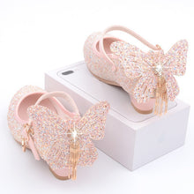 Load image into Gallery viewer, Girls Princess Leather Shoes Children's High Heels Crystal Shoes Catwalk Show Single Shoes