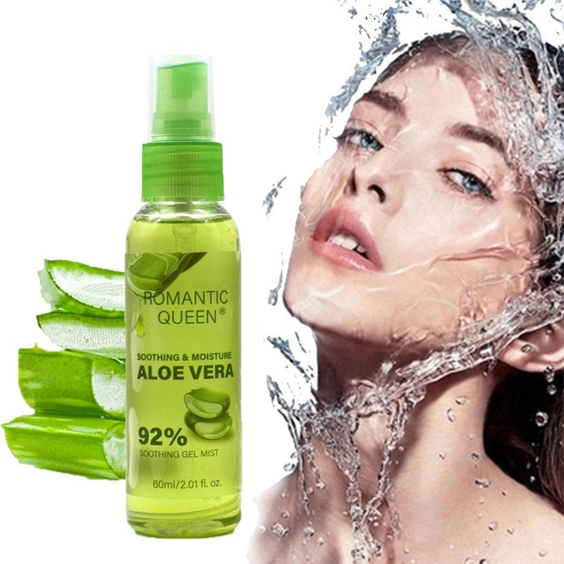 1PC 50ml Face Toner Soothing&Moisture Aloe Vera 92% Soothing Gel Mist Aloe Oil-control Moisturizing Spray