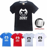 Children Summer Short Sleeve O Neck Shirt Bendy and The Ink Machine Printed Kids T-shirt Boys and Girls Tops Casual Tees