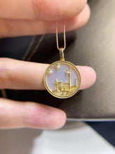 Load image into Gallery viewer, 18K Gold-plated Notre Dame de Paris Pendant Necklace Natural Gemstone Diamond Necklace Romantic Luxury Anniversary Gift