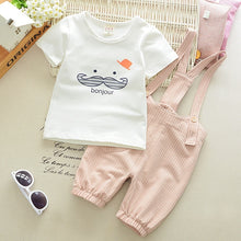 Load image into Gallery viewer, 2pcs Summer Kids Baby Cartoon Cute Short Sleeve Cotton T Shirt+Romper Pants Children Boys Outfits 0-4Years