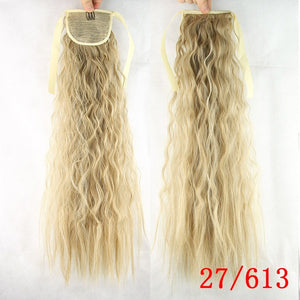 2019 Fashion Women Wigs 55 cm Human Hair Wigs Brazil Wig Long Curly Wig Small Curly Hair Wig Claw Clip on Ponytail Piece Drawstring Ponytail Wrap Around Hair Extensions