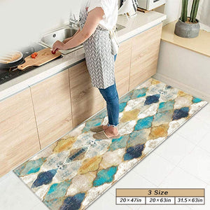 Moroccan Kitchen Mats, Non-slip Mat & Kitchen Rug,Perfect for Kitchens and Bathroom,3 Sizes(20*47in,20*63in,31.5*63in)