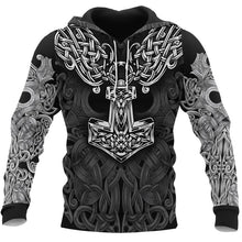 Load image into Gallery viewer, 3D Viking Tattoo All Over Printed Unisex Hoodies Hip Hop Fashion Streetwear Hooded Sweatshirts