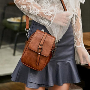 Retro Small PU Leather Women Crossbody Bag Satchel Shoulder Phone Purse Wallet Messenger Bags