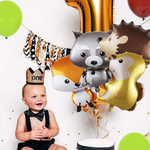 2 PCS Giant Animal Mylar Balloons (Squirrel or Fox or Hedgehog or Raccoon) for Jungle Safari Animals Theme Birthday Party Decorations Kids Gift Birthday Party Decoration Supply Home Decoration Wedding Supplies Hobbies Christmas Halloween Easter