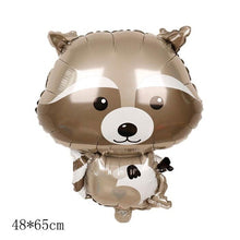 Load image into Gallery viewer, 2 PCS Giant Animal Mylar Balloons (Squirrel or Fox or Hedgehog or Raccoon) for Jungle Safari Animals Theme Birthday Party Decorations Kids Gift Birthday Party Decoration Supply Home Decoration Wedding Supplies Hobbies Christmas Halloween Easter