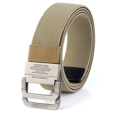 Load image into Gallery viewer, New Men Outdoor Sports Double Ring Tactical Belt Nylon Canvas Belt Fashion Men Adjustable Military Belt