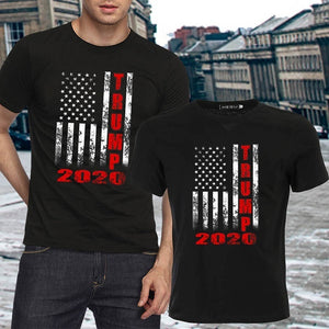 New Fashion Casual Short Sleeve Letter Printed Trump 2020 T-Shirt Summer American Flag Printing T Shirt Tops