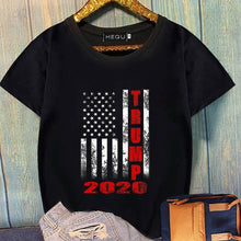 Load image into Gallery viewer, New Fashion Casual Short Sleeve Letter Printed Trump 2020 T-Shirt Summer American Flag Printing T Shirt Tops