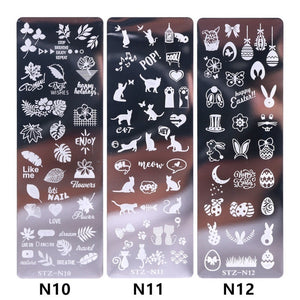 1pc Nail Art Stamp Nail Stamping Template Flower Geometric Animals DIY Nail Designs Manicure Image Plate Stencil