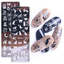 Load image into Gallery viewer, 1pc Nail Art Stamp Nail Stamping Template Flower Geometric Animals DIY Nail Designs Manicure Image Plate Stencil