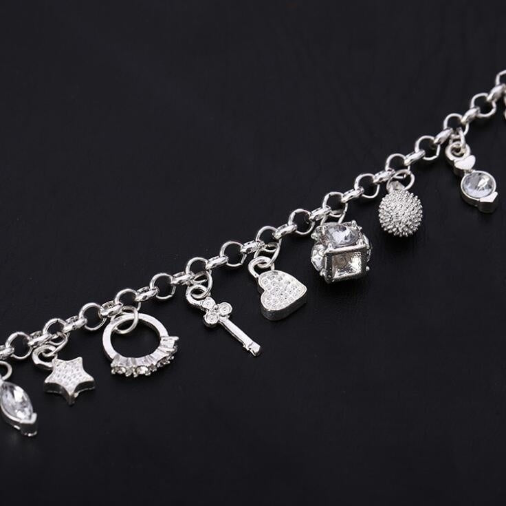 Fashion Jewelry 925 Sterling Silver Chain Bracelets for Men or Women