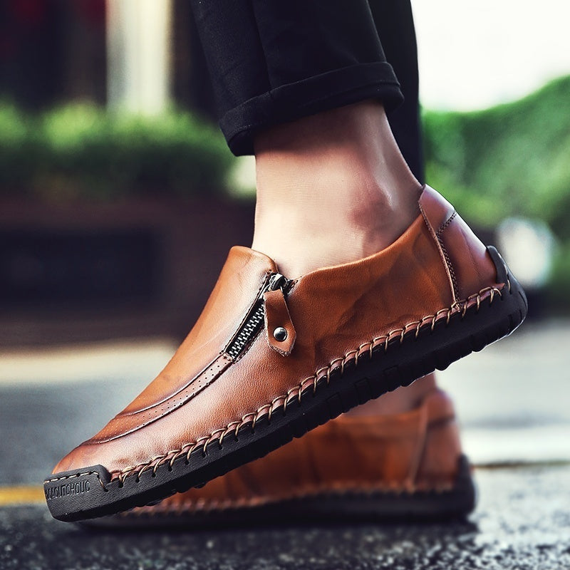 Gentleman Fashion British Classical Retro Casual Leather Shoes Size:38-46