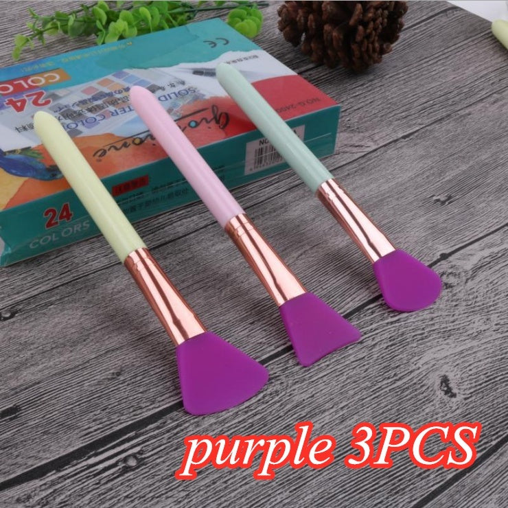 3PCS Beauty Tools DIY Silicone Mask Brush Mask Mud Mix Brush Facial Blackhead Remover Brush Skin Facial Care Tool Cosmetic Makeup