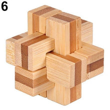 Load image into Gallery viewer, Fancy Wooden Kongming Lock Brain Teaser Puzzle Children Adults Educational Game Toy Gift