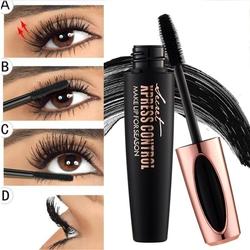 1 Piece 4D Silk Fiber Lash Mascara Waterproof Mascara for Eyelash Extension Black Thick Eye Lashes Curler Cosmetic