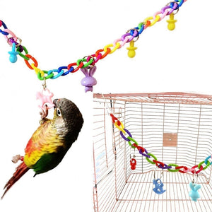 Creative Hanging Toy Cockatiel Bird Toy Swing Cage Birds Cage Toys Climbing Ladder