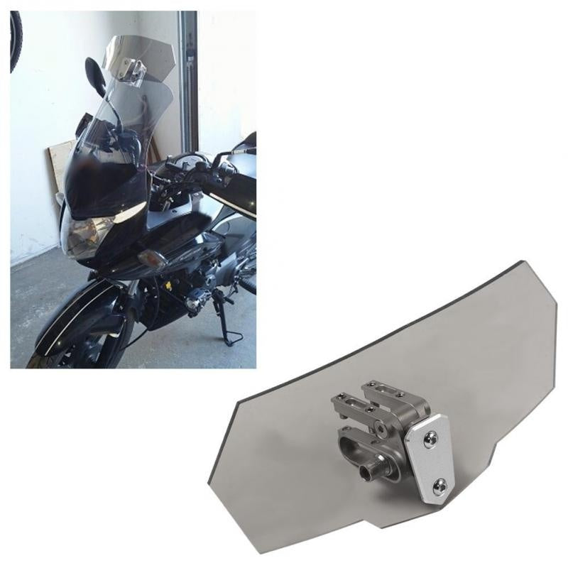 3 Style Universal Airflow Adjustable Motorcycle Windscreen Windshield Extension SpoilerWind Deflector