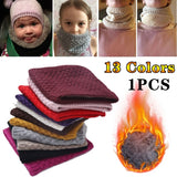 1pcs Fashion Winter Warm Scarf For Women Children Scarf Man Knitted Plus Velvet Thickness Collar Scarves