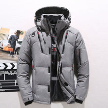 Load image into Gallery viewer, Winter Warm White Duck Thick Down Jacket Veste Outwear Men's Snow Parka Hooded Jacke Coat
