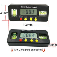Load image into Gallery viewer, Digital Angle Finder Protractor Electronic Level Digital Inclinometer Angle Measuring Tool Magnets