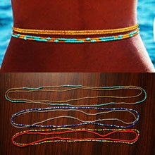 Load image into Gallery viewer, 2PCS Set Summer Jewelry Waist Bead Set, Colorful Waist Bead, Belly Bead, African Waist Bead, Body Chain, Beaded Belly Chain, Bikini Jewelry for Woman Girlbuy 32'  Buy 2  Get 1 Free