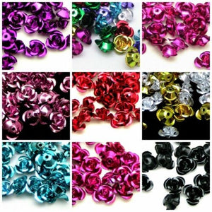 100Pcs Hot Sell  Fashion Rose Flower Aluminum Spacer Beads 6mm For Jewelry Making 6mm