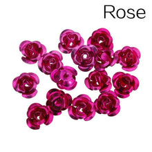 Load image into Gallery viewer, 100Pcs Hot Sell  Fashion Rose Flower Aluminum Spacer Beads 6mm For Jewelry Making 6mm