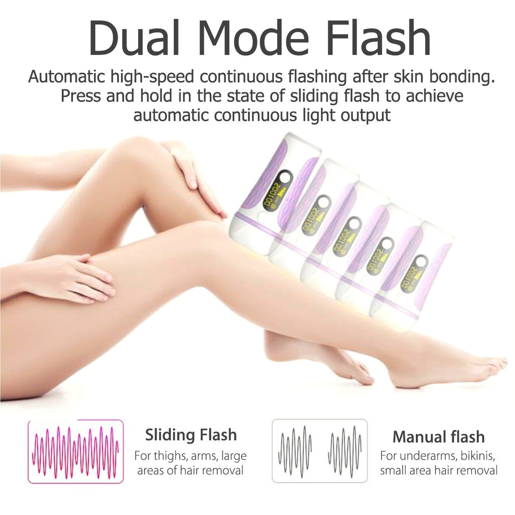 999,990Flash Latest Generation IPL Laser Permanent Visible Hair Removal Painless Epilator Skin Care 5 Speed For All Body