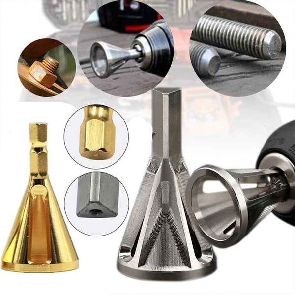 Deburring External Chamfer Steel Remove Cutting Burr Drill Bit Tools Kit