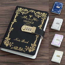 Load image into Gallery viewer, A5 PU Diary Book Creative Business Affairs Notebook Password Lock Notebook Journal Diary Secret Garden Book Office & School Supplies Gift for Student