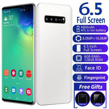 Android Smartphone with 6.5 Inch Full Screen Mobile Phones 4G 6+128 GB Large Memory Smartphone  Android 9.0Smart Phone S10+ Double-sided Curved Screen Wireless Bluetooth GPS Global Positioning Mobile Phone