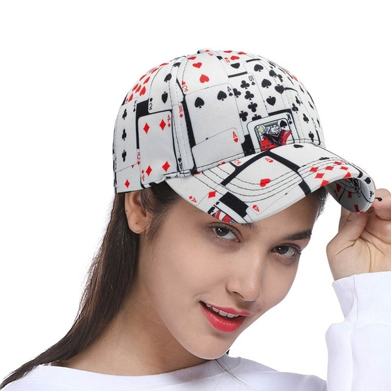 2019 New Cool Poker Baseball Cap Fashion Hip Hop Men Women Adjustable Cap Sport Baseball Snapback
