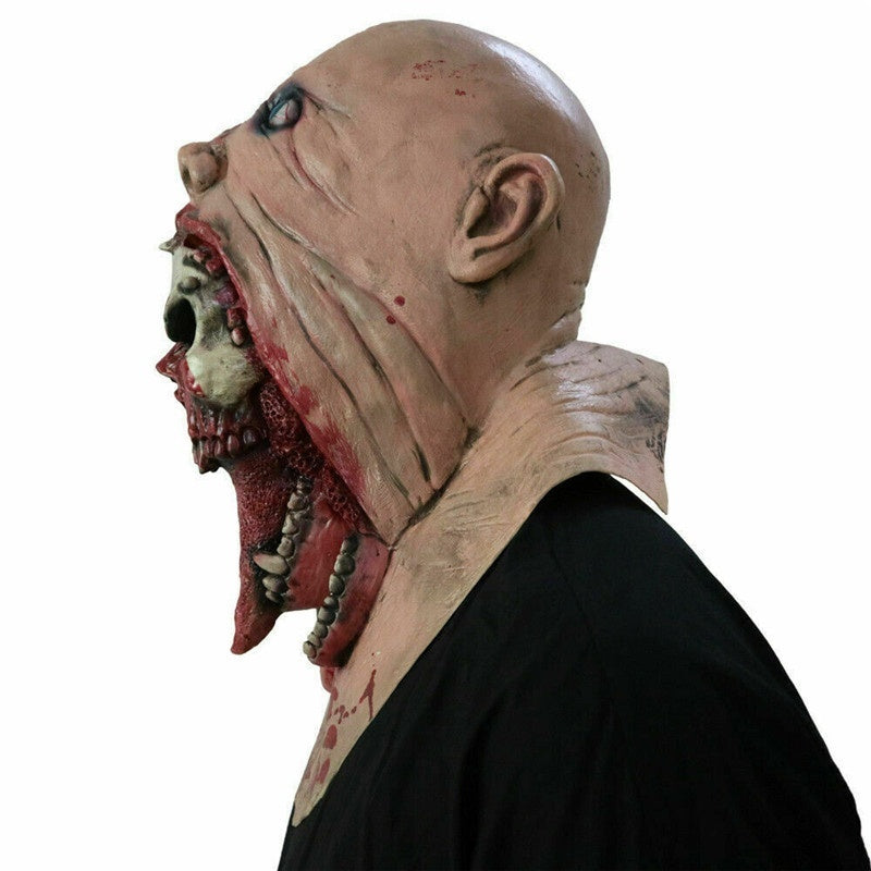 Bloody Zombie Mask Rotten Face Adult Latex Costume Walking Dead Halloween Scary