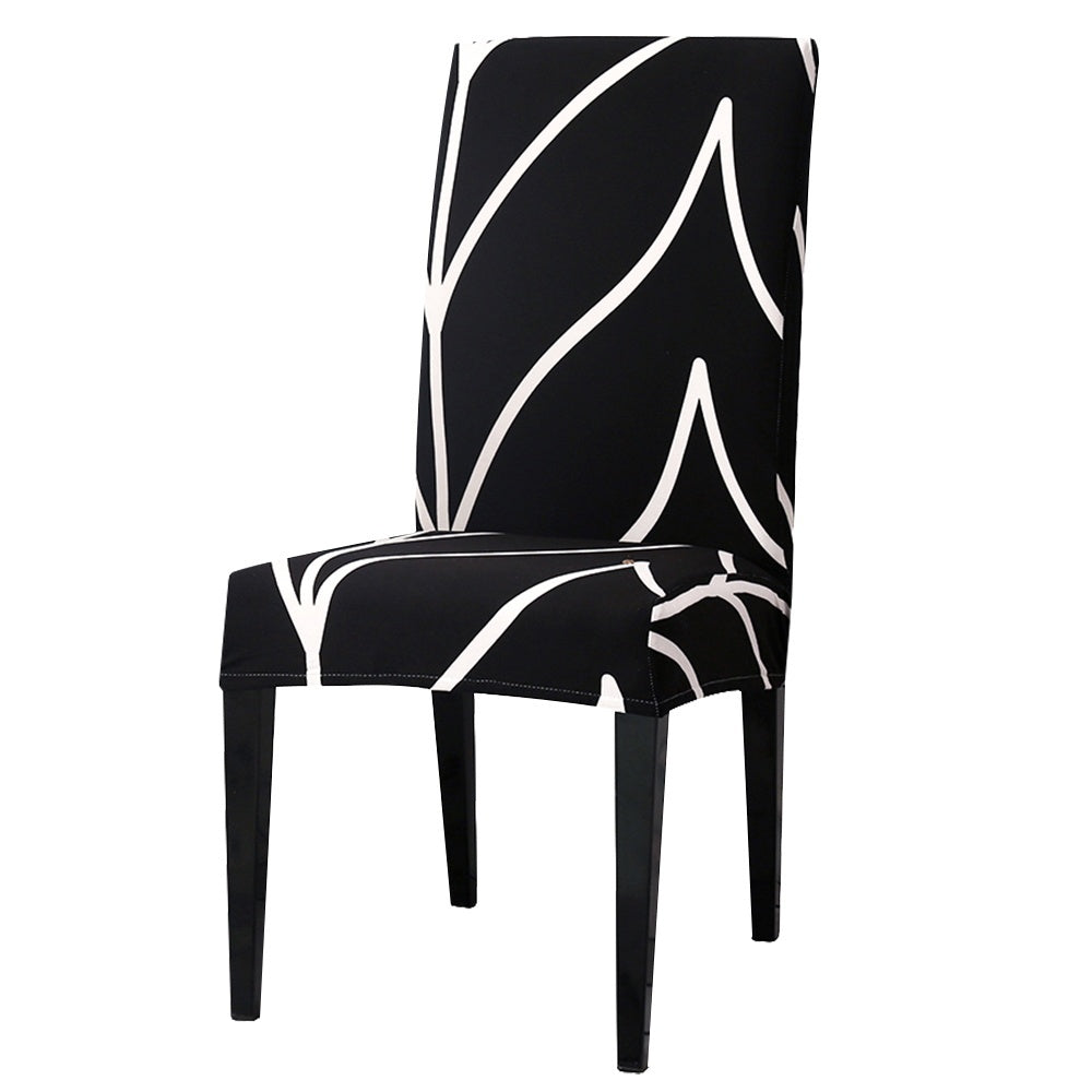 1/2/4/6Pcs Spandex Removable  Chair Cover Stretch Elastic Dining Seat Cover For Banquet Wedding Restaurant Hotel