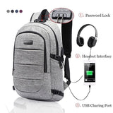 New Fashion Laptop Backpack Anti Theft Waterproof Travel Backpack with USB Charging Port Amp Headphone Interface for College Student Women Men Fits Under 17 Inch Laptop Notebook