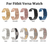 10 Colors Stainless Steel Replacement Chain Smart Watch Strap Metal Band for Smart Watch